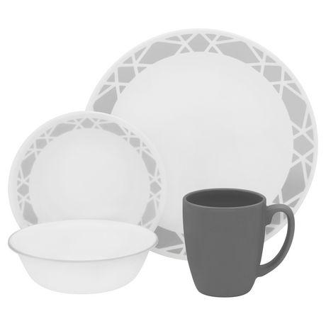 sc 1 st  Walmart Canada & Corelle® Modena Dinnerware Set 16pc | Walmart Canada