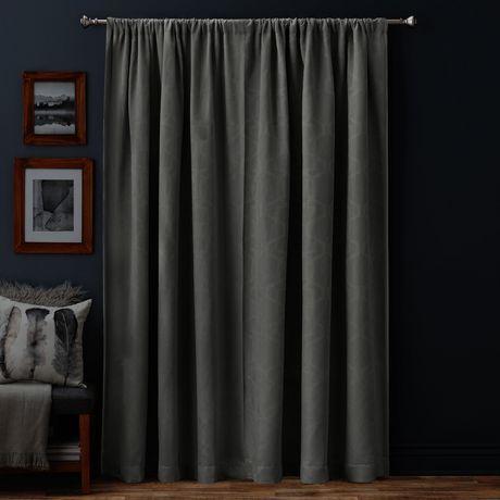 panneau de rideau g om trique hometrends hudson de 84 po. Black Bedroom Furniture Sets. Home Design Ideas