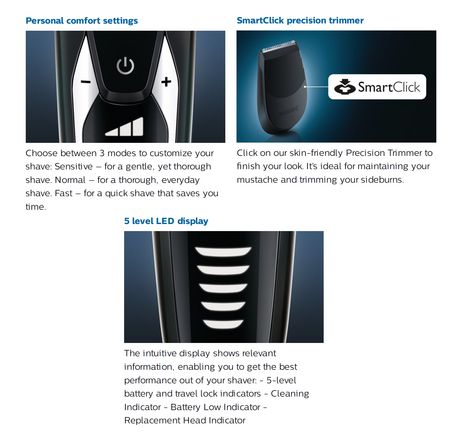 Philips Rasoir Serie 9000 avec Système de Nettoyage Smartclean, S9311/27 - image 3 de 9