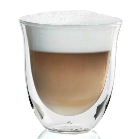 2 verres à cappuccino isothermes De'Longhi à double paroi - image 2 de 4