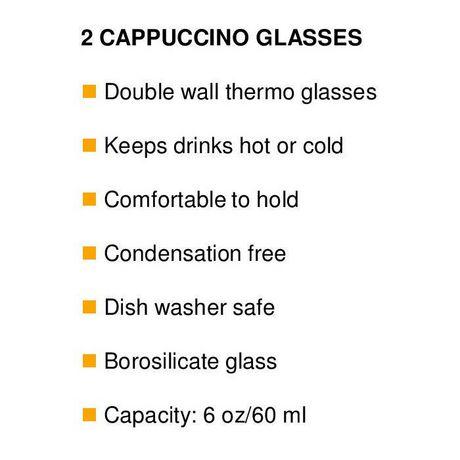 2 verres à cappuccino isothermes De'Longhi à double paroi - image 3 de 4