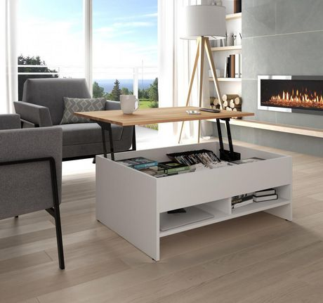 Bestar Small Space 37 Quot Lift Top Storage Coffee Table