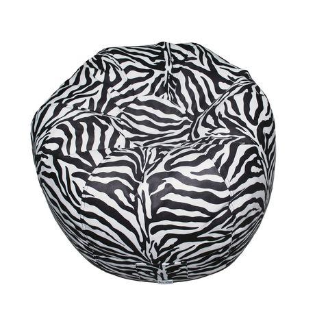 Black and white zebra print Boscoman bean bag chair