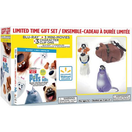the secret life of pets blu ray dvd digital hd 3 mini movies 3 character clip ons. Black Bedroom Furniture Sets. Home Design Ideas