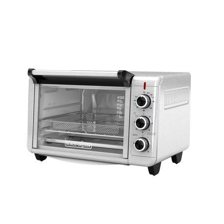 Black + Decker Crisp 'N Bake Air Fry Toaster Oven in Stainless Steel - image 1 of 6