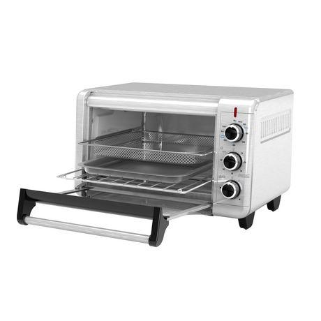 Black + Decker Crisp 'N Bake Air Fry Toaster Oven in Stainless Steel - image 3 of 6