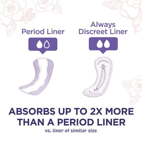 Protège-dessous d'incontinence réguliers Always Discreet, protection très légère, - image 3 de 4
