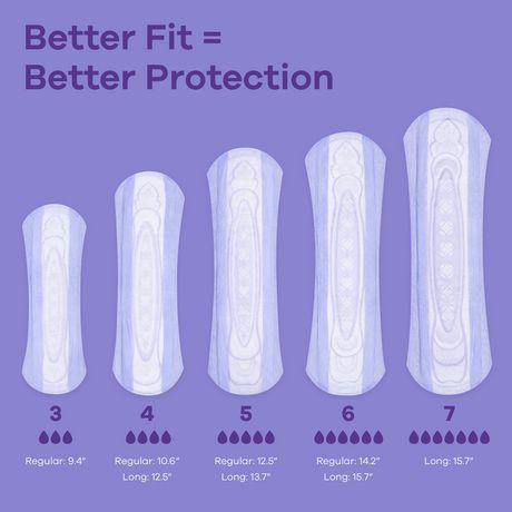 Serviettes d'incontinence longues Always Discreet, protection suprême de nuit - image 3 de 4