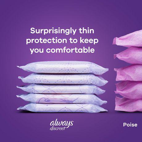 Serviettes d'incontinence longues Always Discreet, protection suprême de nuit - image 4 de 4