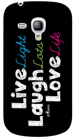 Exian Case for Samsung Galaxy S3 Mini - Live Laugh Love - image 2 of 2