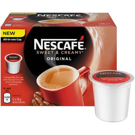 nescaf sweet u0026 creamy original pods compatible for use with keurig kcup walmart canada - Keurig K Cup