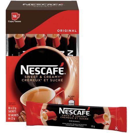 NESCAFÉ Sweet & Creamy Original, Instant Coffee Sachets - image 1 of 8