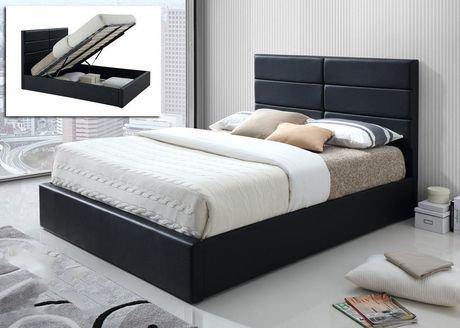 lit en simili cuir blair avec rangement. Black Bedroom Furniture Sets. Home Design Ideas