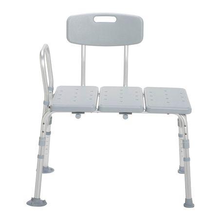 Drive Medical Plastic Tub Transfer Bench with Adjustable Backrest - image 2 of 3