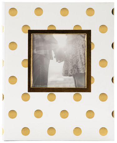 Pinnacle Frames 2-up Gold Foil Dots Photo Album - image 1 of 4
