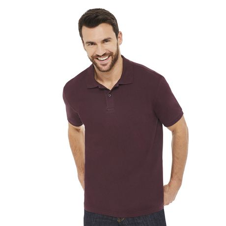 George Plus Men's Solid Pique Polo - image 1 of 6