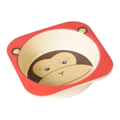 Safety 1st Monkey Bamboo Bowl - image 1 of 4