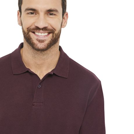 George Plus Men's Solid Pique Polo - image 4 of 6