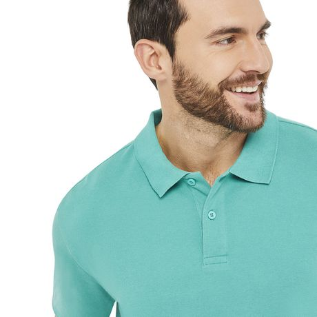George Men's Solid Pique Polo - image 4 of 6
