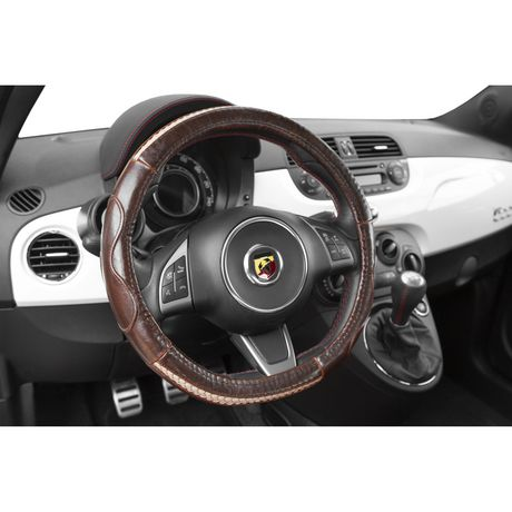 Alpena Steering Wheel Cover-Durbin Brown Leather - image 3 of 3