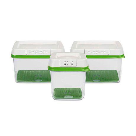 Ensemble de 3 pièces de contenants pour garder des produits agricoles Freshworks de Rubbermaid - image 1 de 5