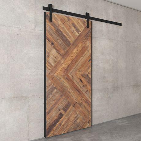 Urban Woodcraft Santa Monica Reclaimed Wood Barn Door Walmart Canada