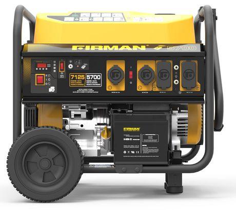 Génératrice portative à essence P05703 de Firman à 7 100/5 700 watts (série Performance) – autonomie prolongée - image 1 de 7