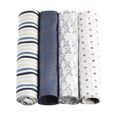 George baby Organic Cotton Flannel Receiving Blankets - image 2 of 6