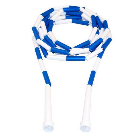 Corde à sauter segmentée 10-pi (bleue/blanche) - image 1 de 1