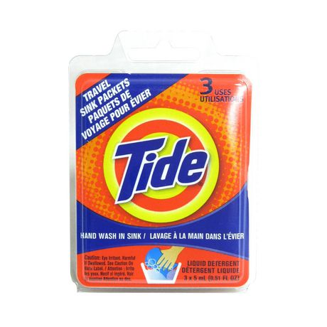 Tide Travel Sink Packets 3 Uses - image 1 of 1