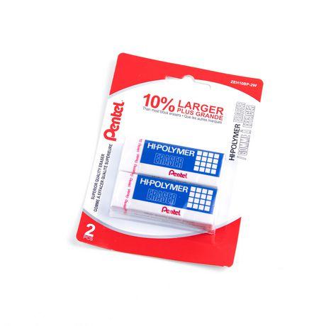 Pentel Stationery Hi Polymer White Eraser Walmart Canada
