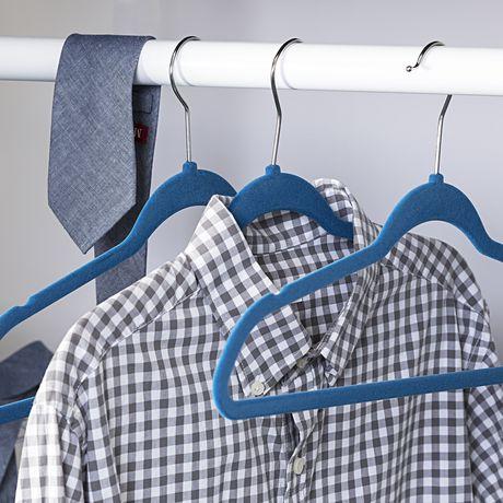 Honey-Can-Do Honey Can Do Flocked Suit Hanger 25 Pk – Blue - image 2 of 3