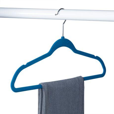 Honey-Can-Do Honey Can Do Flocked Suit Hanger 25 Pk – Blue - image 1 of 3