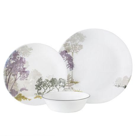 sc 1 st  Walmart Canada & Corelle® Forest at Dawn Dinnerware Set 12pc | Walmart Canada