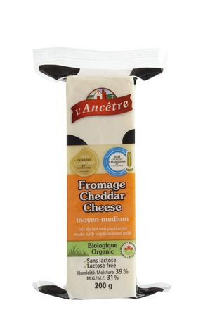 L Ancetre Organic Raw Medium Cheese Cheddar Walmart Canada