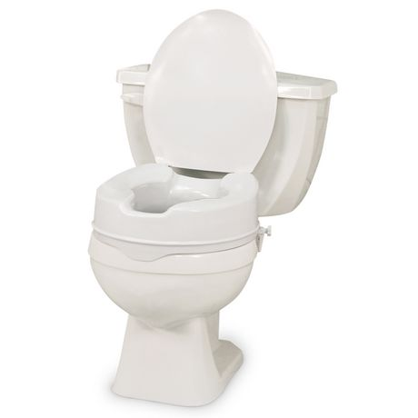 Profilio Raised Toilet Seat With Lid White 4 Inch