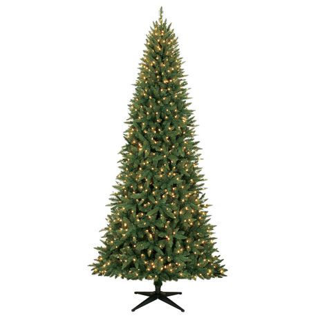 holiday time 9 williams quick set slim pine with clear lights christmas tree walmart canada - Holiday Time Christmas Trees