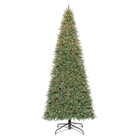 Holiday Time 12' Williams Quick Set Slim Pine with Clear Lights ...