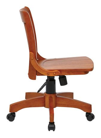 Osp Designs Deluxe Fruitwood Armless Bankers Chair