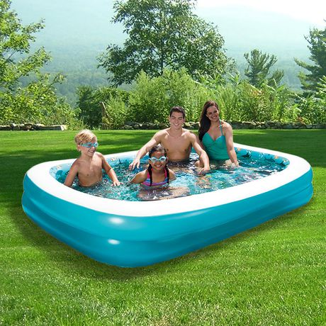 Blue Wave 103 X 69 3d Inflatable Rectangular Family Pool