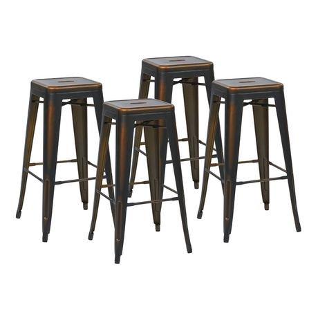 Osp Designs Bristow 30 Quot Antique Copper Metal Barstool