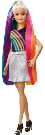 Barbie chevelure scintillante arc-en-ciel - image 1 de 9