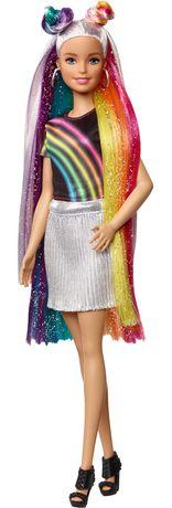 Barbie chevelure scintillante arc-en-ciel - image 6 de 9