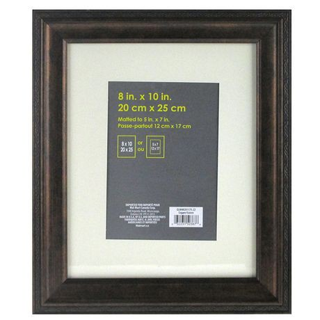 Martinez frame 8 x10 matted to 5 x7 antique copper for Baroque mirror canada