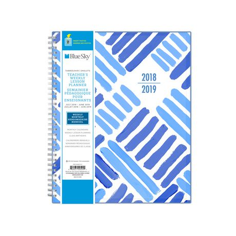 Blue Sky Crosshatch Large Weekly/Monthly Cyo Planner for 2018-19 - image 3 of 3
