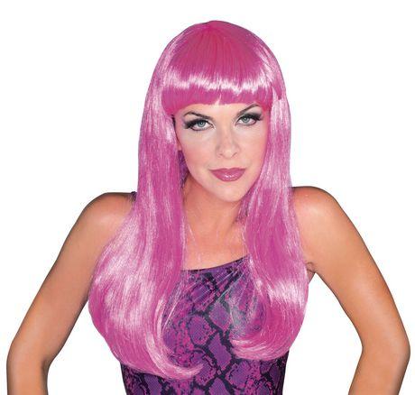 Perruque glamour Rubie's en rose vif - image 1 de 1