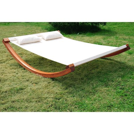 Outsunny Rocking Double Sun Lounger Hammock With Curved