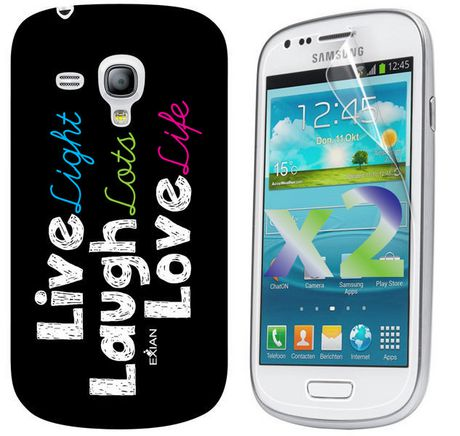 Exian Case for Samsung Galaxy S3 Mini - Live Laugh Love - image 1 of 2
