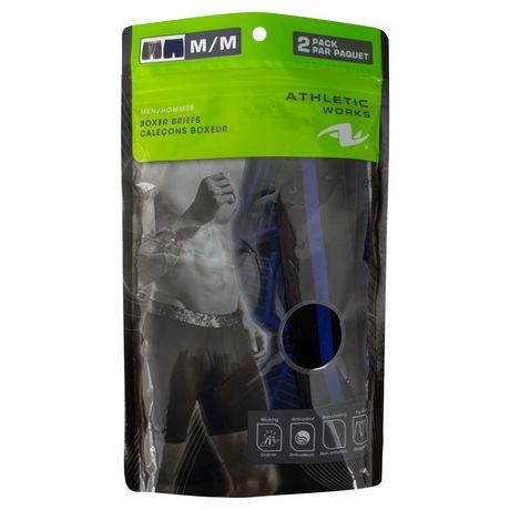 Sous-vêtements Caleçons boxeurs Athletic Works pour hommes en paq. de 2 - image 2 de 2