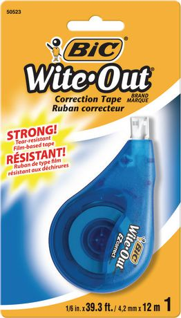 BIC Wite-Out Brand EZ Correct Correction Tape, White, 1 Count - image 1 of 2